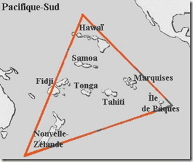 Carte du triangle polynesien