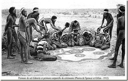 peinture de sol aborigène