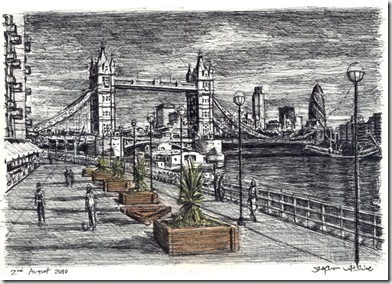River Thames with Tower Bridge-stephenwiltshire.co.uk