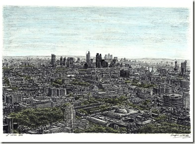 View of London from the top of BT Tower-stephenwiltshire.co.uk