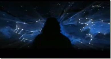 juxtaposition  des constellations et points saillants de la salle des taureaux-bis