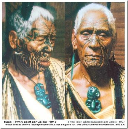 Portrait-de-Chef-Maoris-de-Nouvelle-Zélande-portant-un-pendentif-Hei-Tiki-portrait-peint-par-Goldie