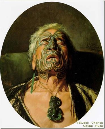 Portrait-de-Chef-Maoris-de-Nouvelle-Zélande-portant-un-pendentif-Hei-Tiki-portrait-peint-par-Goldie-bis