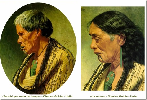 Portrait-de-femmes-Maoris-de-Nouvelle-Zélande-portant-un-pendentif-Hei-Tiki-portrait-peint-par-Goldie