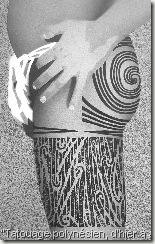 cuisse tatouage maori