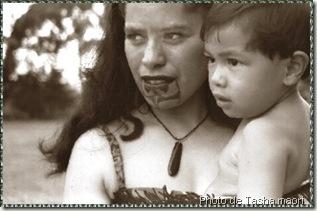 Moko femme maori