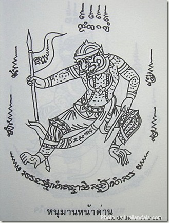 hanuman-naa-daan personnage-tatouage thaï traditionnel