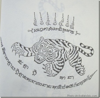 suea-awg-sueg tigre-tatouage thaï traditionnel
