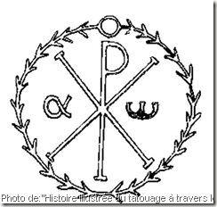chrisme-monogramme-du-christ-tatouage des chrétiens