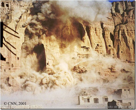 destruction des bouddha de bamiyan 2001