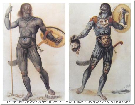 representation imaginaire de pictes au XVIIIe siècle