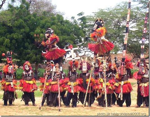 Danse-de-masques-à-Sangha -Art Dogon