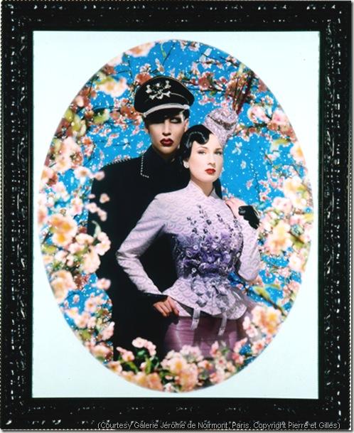 Pierre et GIlles le grand amour 2004 modele Marylin Manson et Dita Von Teese