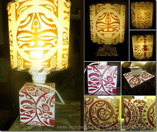 Lampe maorie