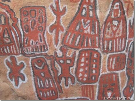 Peintures rupestres-art dogon