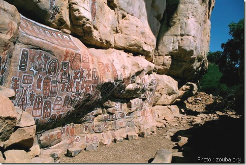 peinture rupestre-art dogon