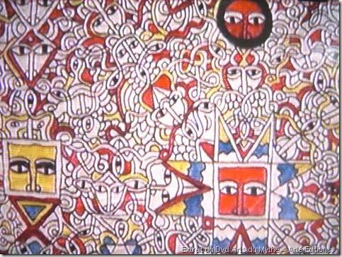 Peinture-talismatique--Protection-contre-les-mauvais-esprits-Henok-Melkam-Zer-Yehun,-artiste-debtera-d'Ethiopie
