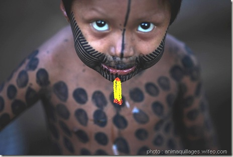 peinture corporelle kayapo brazil-body painting-www.wonderful-art.fr