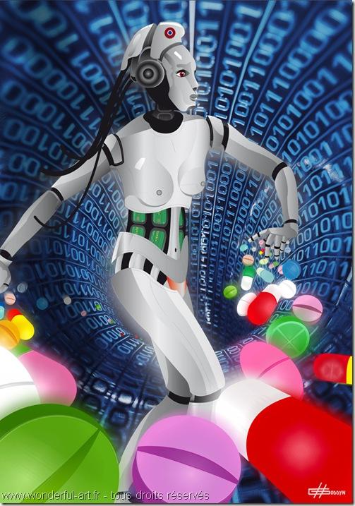 la semeuse-Computer art-tableau numérique-digigraphie-tableau plexi et dibond-Améli-tableau détourné-tableau détourné de la semeuse de Roty-impression sous plexi-www.wonderful-art.fr