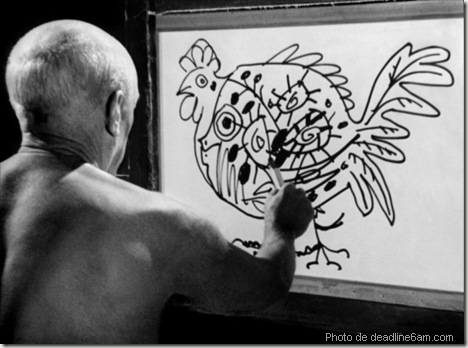Film sur Picasso - the mystery of picasso - le mystère de picasso - filme de henri georges clouzot - www.wonderful-art.fr