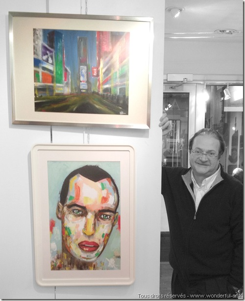 New York - Time square-l-homme-Bleu-helene goddyn - galerie artitude paris - www.wonderful-art.fr