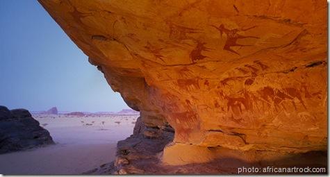 NeolithicRockPaintings ennedi plateau , tchad