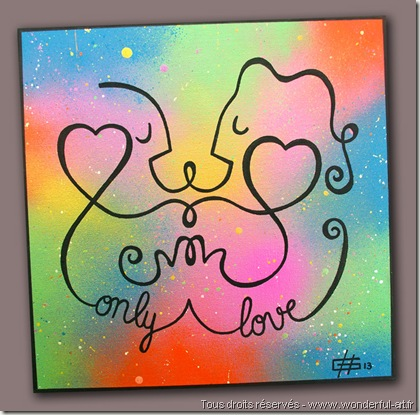dessin de Hélène Goddyn -only love