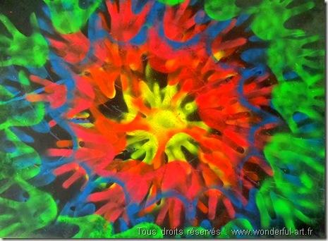 Peinture contemporaine inspirée de l'art préhistorique-www.wonderful-art.fr
