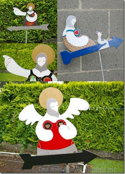 girouette santa mama- Penseur-Exposition Parcours d'artistes de Beloeil - hélène Goddyn - www.wonderful-art.fr
