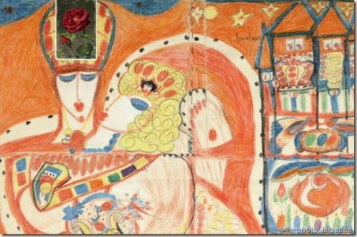 une-etreinte-passionnee-et-fantasque-aloise corbaz-art brut-www.wonderful-art.fr