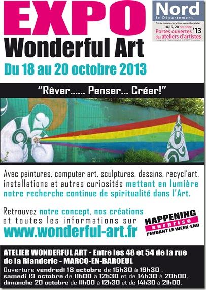 affiche A4 ouverture atelier d'artiste 2013