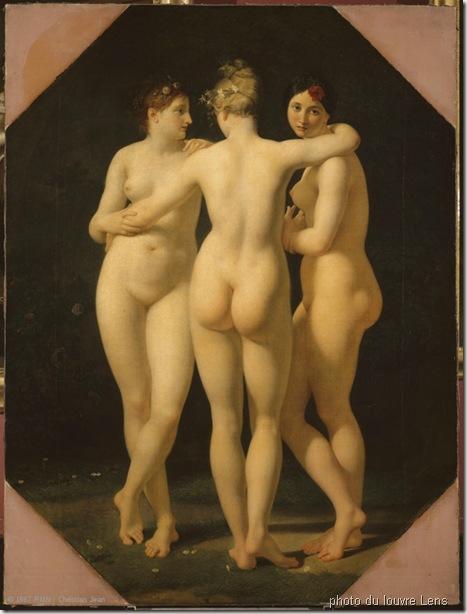 louvre-les-trois-graces-Jean-Baptiste REGNAULT (Paris, 1754 - Paris, 1829)