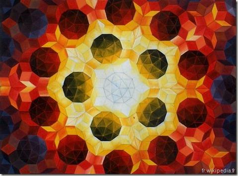 Roger Penrose pavage - www.wonderful-art.fr