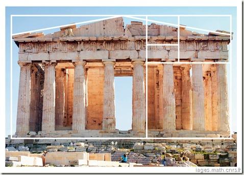 Parthénon selon le nombre d'or - www.wonderful-art.fr