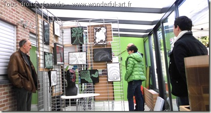 Portes ouvertes des ateliers d'artistes-art contemporain-wonderful art-exposition rever penser creer-helene goddyn et emmanuelle prudhomme
