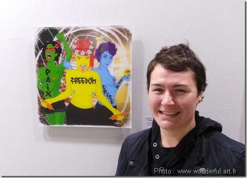 helene goddyn-les 3 garces-les 3 grasses-art contemporain-art numerique-salon les hivernales de montreuil-wonderful art-art merveilleux