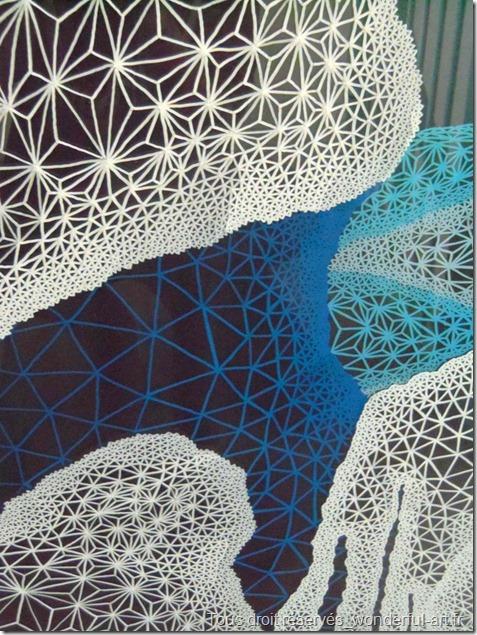 dessin contemporain_fractal_nombre d'or_dessin avec triangle_delta_dessin à base de triangle_dessin géométrique_dessin psychédélique_art spirituel_DELTAS_artistes contemporain_emmanuelle prudhomme_wonderful art_waterfall