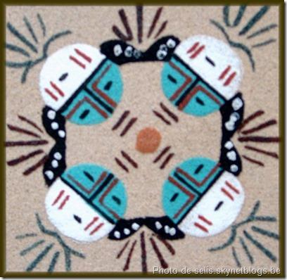 Mandala réalisé à même le sol par les Amérindiens