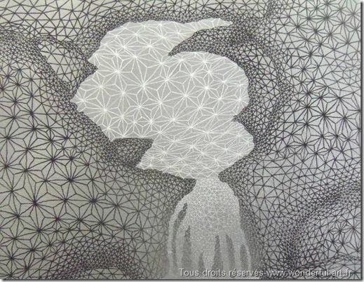 fractale_triangle_dessin contemporain_dessin fait avec des triangles_silverfall_emmanuelle prudhomme_www.wonderful-art.fr_delta_art et spiritualité