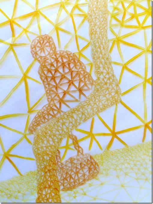 delta emmanuelle prudhomme_contemplation_dessin fractal_dessin à base de triangle