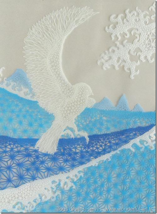 l-oiseau-et-la-vague-par Emmanuelle Prudhomme-www.wonderful-art.fr-spiritualité dans l'art-série DELTA-hokusaï