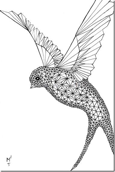 Estampe-delta_A5_Hirondelle_Emmanuelle-Prudhomme_dessin-fractal_dessin-triangle