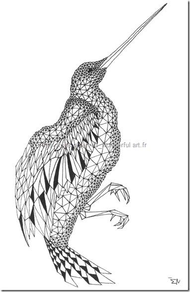 Estampe-delta_A5_bird_Emmanuelle-Prudhomme_dessin-fractal_dessin-triangle