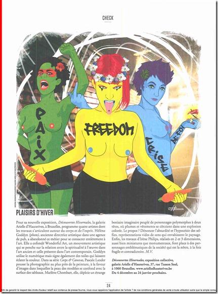 Weekend-Le-Vif-l'Express-28 Novembre 2014_Hélène Goddyn_les 3 garces_galerie Arielle d'Hauterives