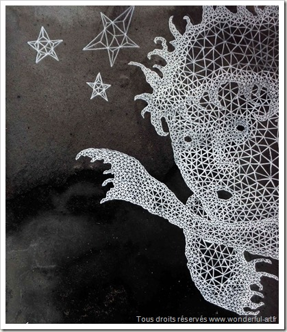 Little Prince-par emmanuelle prudhomme-série DELTA-le petit prince- fractales- triangle-wonderful-art.fr