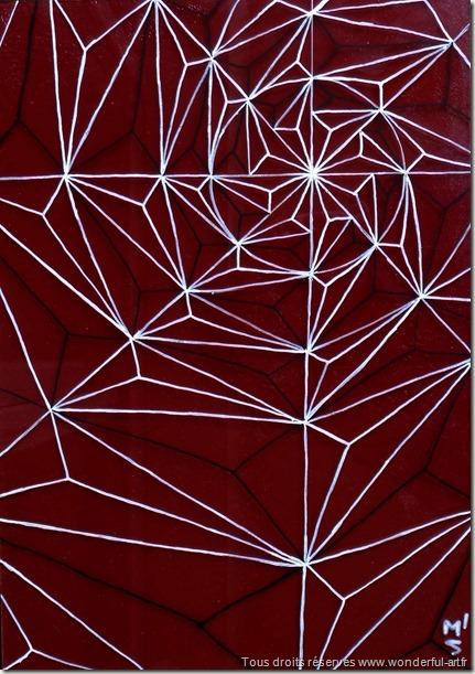 Delta_dessin triangulaire_spider-trap-par emmanuelle prudhomme-série DELTA- www.wonderful-art.fr-fractales- triangles-toile d'araignée-piège