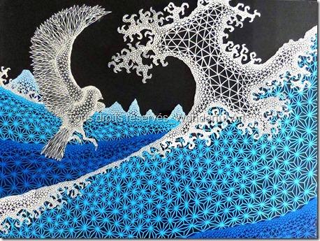 delta_l'oiseau et la vague_emmanuelle-prudhomme_dessin-triangle_fractale_nombre-d'or_dessin-contemporain