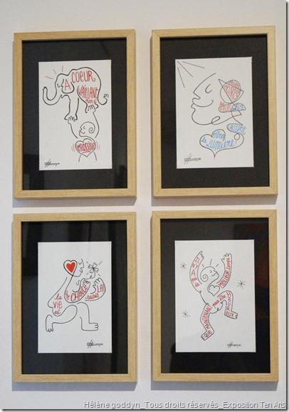 Hélène goddyn_dessins au fil de la vie pour en tracer l'essentiel_Exposition Ten Arts_avril 2015_espace Peugeot_Paris