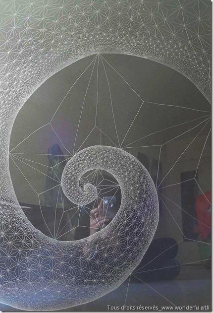Fibonacci-spiral-#2-série-DELTA-Emmanuelle-Prudhomme-dessin-contemporain--spirale-de-Fibonacci-fractales-triangle-dessin-géométrique-2