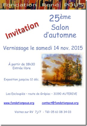 Invitation-Vernissage-salon d automne fondation Pous